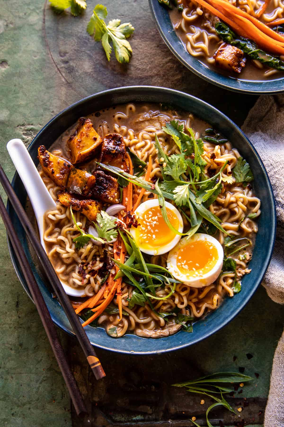 Easy Ginger Chicken and Spinach Ramen